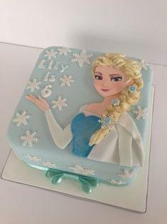 2D Elsa Frozen cake - Cake by The Rosebud Cake Company - CakesDecor