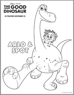 218 Best The Good Dinosaur Printables images | Dinosaur printables ...