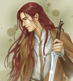 Maedhros.  Art by Ixlwing.  http://ilxwing.deviantart.com/gallery/