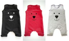 ++Baby Harem Romper with bear face++  My baby romper in dungaree style is made with one KAM brand plastic snap for an easy and simple dress up. The baby romper is all handmade from start to finish, so you wont be getting a premade romper.   ►TO ORDER  1. Select the size and color from the drop down menu 2. Add a Note to Seller in case you have any special requests ________________________________________________________  ►PRODUCT DESCRIPTION  The romper is made of Sweatshirt Fabric…