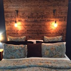Diy Headboards With Lights just gorgeous!!!!! ~ rustic headboard with edison lights (dimmer