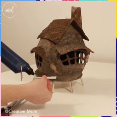 12 scale DIY Dollhouse Miniature Furniture Straight Stairway with Left Handrail is part of Fairy house diy - Diy Crafts Hacks, Diy Home Crafts, Diy Arts And Crafts, Creative Crafts, Crafts For Kids, Fairy Crafts, Art Diy, Cardboard Crafts, Paper Mache Crafts