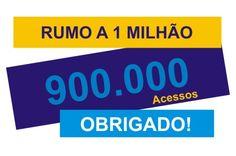 Rádio Web Mix Esporte&Som: Chegamos a 900 mil, agora vamos para 1 milhão. Obr...