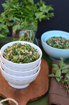 Tabouleh - A Lebanese Parsley, Bulgur Wheat, Mint, Onion & Tomato Salad