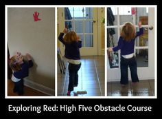 High Five Obstacle Course- combines the fun activities of hand tracing, cutting, obstacle course running and high-fiving fun!