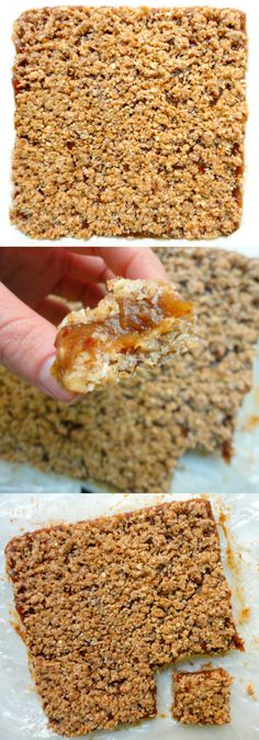 Healthy Flourless NO BAKE Date Squares - even better than the traditional recipe without any added sugar or flour!! #VEGAN #HEALTHY #GLUTENFREE - Ceara's Kitchen