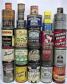 antique coffee tin's~awesome collection.