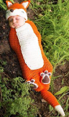 Crochet fox costume #halloween #costume