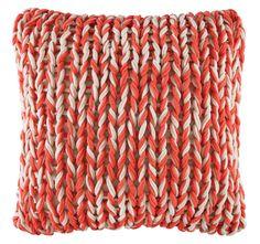 KAS Splice Melon Square Cushion Cover KAS Size 48 X Acrylic Knit on for sale online Velvet Cushions, Floor Cushions, Cushions Online, Toe Rings, Soft Furnishings, Merino Wool Blanket, Fashion Earrings, Silver Jewelry, Knitting