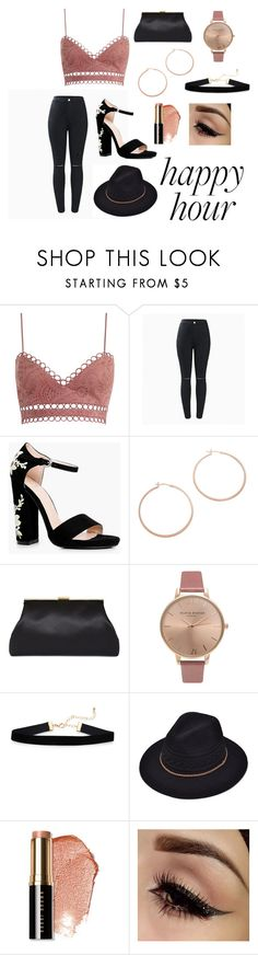 """""""Night out"""" by acro-ash ❤ liked on Polyvore featuring Zimmermann, Boohoo, Jennifer Zeuner, Olivia Burton and Bobbi Brown Cosmetics"""