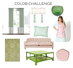 """""""Green & Rose"""" by nominobi ❤ liked on Polyvore featuring interior, interiors, interior design, home, home decor, interior decorating, John Lewis, Safavieh, Southern Tide and colorchallenge"""
