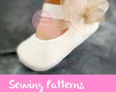 red baby girl shoes PDf sewing patterns for by KidsSewingPatterns