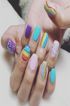 Here is Funny Easy Nail Designs Pictures for you. Casual Nails, Classy Nails, Simple Nails, Nail Designs Pictures, Diy Nail Designs, Simple Nail Designs, Nail Art Diy, Easy Nail Art, Cool Nail Art