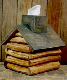 decorating fall wooden tissue boxes   ... decor cabin decor accessories cabin gift shop log cabin tissue box