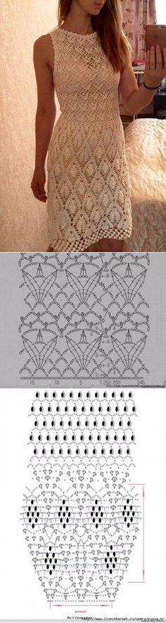 Captivating Crochet a Bodycon Dress Top Ideas. Dazzling Crochet a Bodycon Dress Top Ideas. Crochet Wedding Dresses, Crochet Summer Dresses, Crochet Skirts, Black Crochet Dress, Crochet Blouse, Crochet Clothes, Crochet Jumper, Dress Summer, Crochet Diagram