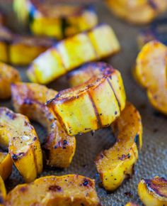 Roasted Cinnamon-Ginger Delicata Squash (sub in erythritol or other non-sugar granulated sweetener)