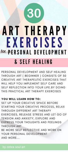 Personal Development and Self Healing through Art ( Beginner ) consists of 30 creative art therapeutic exercises that will help you implement self care and self reflection into your life. Udemy online course / 30 art therapy exercises for self love and self development #art #selfexpression Art Therapy Projects, Art Therapy Activities, Self Development, Personal Development, Self Healing Quotes, Self Love Affirmations, Health Anxiety, Board Art, Best Self