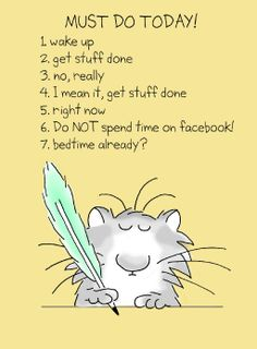 "From Sandra Boynton. Substitute ""Pinterest"" and ""Twitter"" for Facebook."