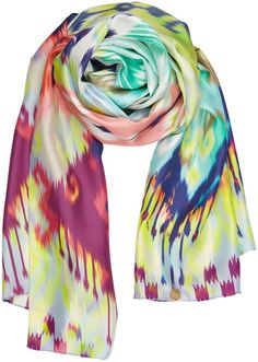 IKATCHY - silk twill scarf #multicolour #neonlook ss16