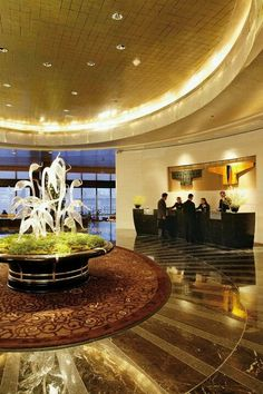 Mandarin Oriental Hotel, New York. The lobby to the beautiful sky bar on the 35th floor. The art glass sculptures are such a stand out in this epic hotel.