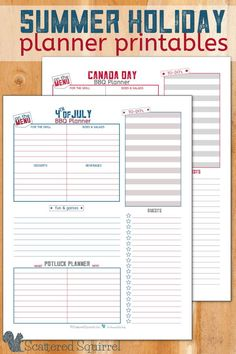 A BBQ with family and friends is a great way to kick off the summer and celebrate your nation's birthday! These patriotic theme bbq planners will help you plan your get together so you can just sit back, relax and enjoy the day of!