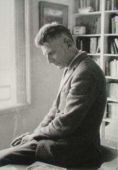 Samuel Beckett, Paris, 1964 | #photography by Gisèle Freund