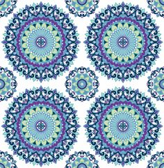 "Kismet Gemma Boho Medallion 33' x 20.5"" Geometric Wallpaper"