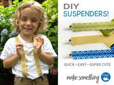 Sewing Tutorial: Make a Pair of Elastic Suspenders using Dritz elastic & hardware. #sewing #backtoschool #DIY #kids