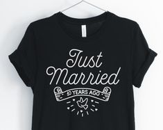 Etsy :: Your place to buy and sell all things handmade 10 Anniversary, Couple Shirts, Happy Shopping, Unisex, Sweatshirts, Tees, Mens Tops, Handmade, How To Wear