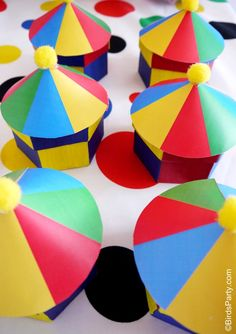 tutorial: how to make circus big top favor boxes for a circus party