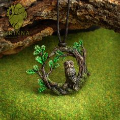 Owl in brances from polymer clay by Krinna on DeviantArt