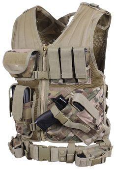 Cross Draw MOLLE Tactical Vest - Multicam