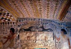 Tomb of Sennefer - Thebes West (Upper Egypt), Sheikh Abd el-Qurna, Tomb of Sennefer (TT 96), (New Kingdom, 18th dynasty, reign of Amenhotep II, c. 1410 BC).