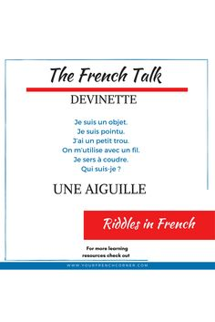 Practice French with us daily word, book/ movie recommendations, riddles, live videos and more #fsl #fle #learningfrench