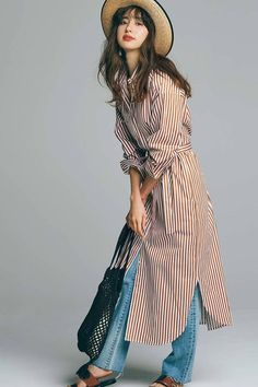 Ideas For Womens Dress Suits Work Outfits Japan Fashion, All Fashion, Modest Fashion, Women's Fashion Dresses, Fashion Pants, Autumn Fashion, Womens Fashion, Long Shirt Outfits, Casual Outfits