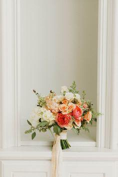 Citrus colored bridal bouquet | Michele M. Waite
