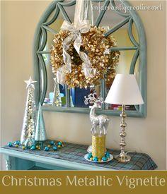 Christmas metallic tabletop decor #lowescreator