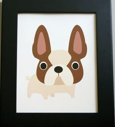 French Bulldog art print. 8 in x 10 in. $13.00, via Etsy.