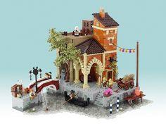 Venice, 1486: an Assassin's Creed II scene in LEGO