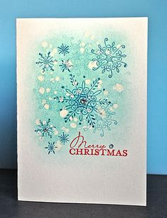 Stampin' Up ideas and supplies from Vicky at Crafting Clare's Paper Moments: Less is More Serene Snowflakes