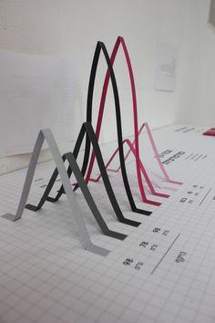 Keren shalev infographic, paper craft