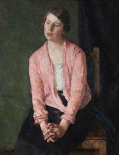 David Foggie, woman with clasped hands, 1927. oil on canvas, 92 x 71.2 cm. royal scottish academy of art & architecture, uk http://www.bbc.co.uk/arts/yourpaintings/paintings/woman-with-clasped-hands-186580