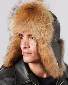 abac8719fad Finish Raccoon Fur   Leather Trapper Hat Fur Accessories