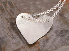 Necklace Sterling Silver Heart Anniversary Birthday Love Gift for Her Under 35.