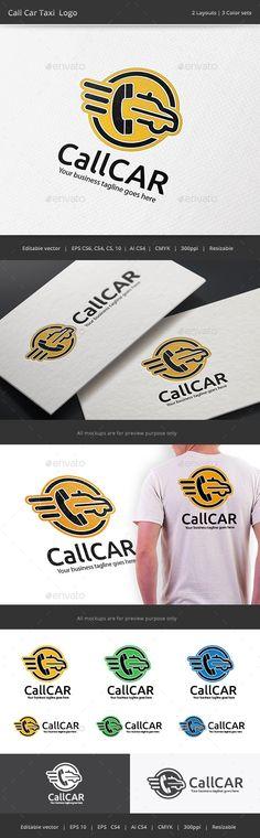 Call Taxi Car Logo