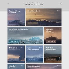 A design concept for a travel destination website by Jan Erik Waider: Screendesign / Webdesign / Responsive Design / Interface Design / Mobile Apps