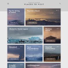 A design concept for a travel destination website by Jan Erik Waider: Screendesign / Webdesign / Responsive Design / Interface Design / Mobile Apps