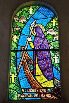 Sainte-Geneviève ravitaille Paris - Eglise de la Bonneville-sur-Iton