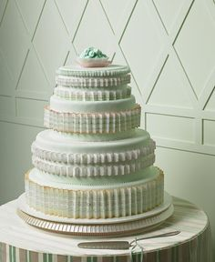 cake mint martha stewart wedding