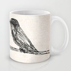 Let it bird Mug by Escrevendo e Semeando - $15.00